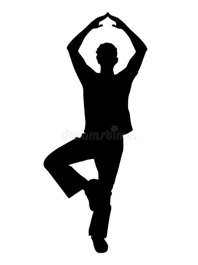 άτομο ένα ποδιών που στέκε&tau ελεύθερη απεικόνιση δικαιώματος