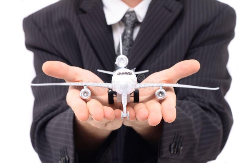 άτομο αεροπλάνων στοκ εικόνα