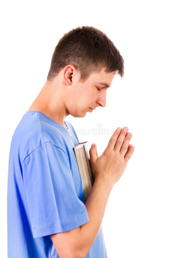 άτομο ανασκόπησης που προσεύχεται τις λευκές νεολαίες στοκ φωτογραφίες με δικαίωμα ελεύθερης χρήσης