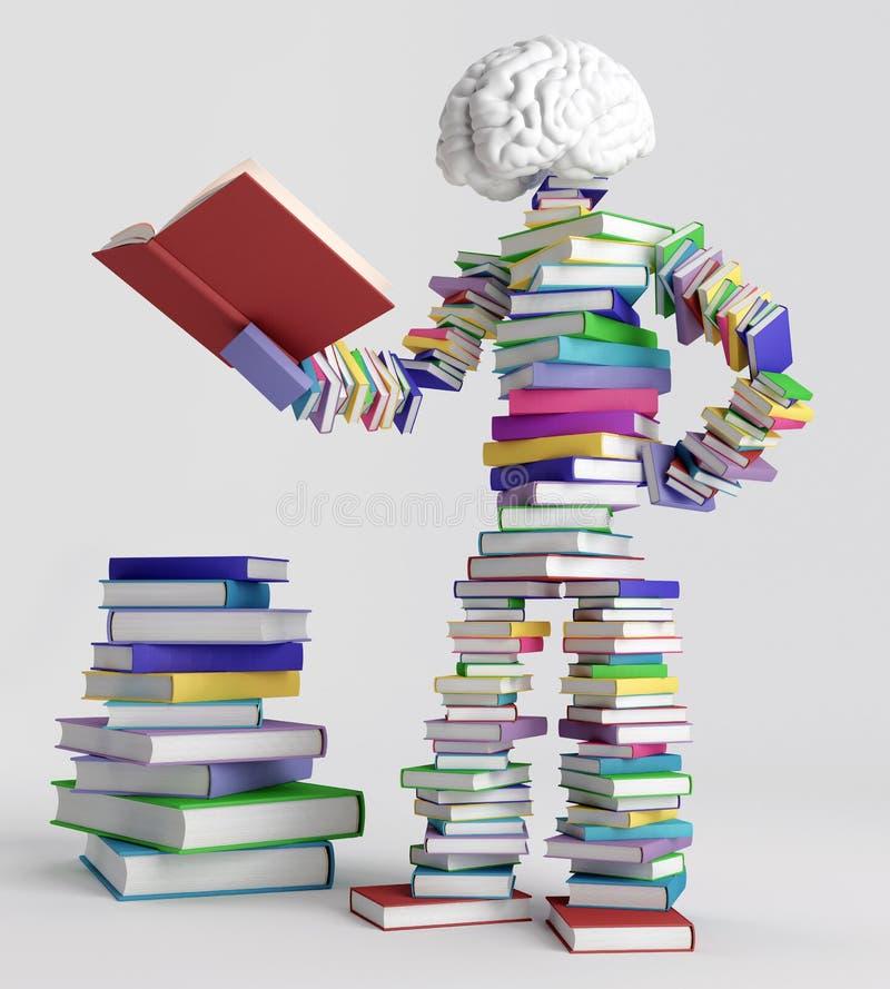 Άτομο βιβλίων στοκ φωτογραφίες με δικαίωμα ελεύθερης χρήσης