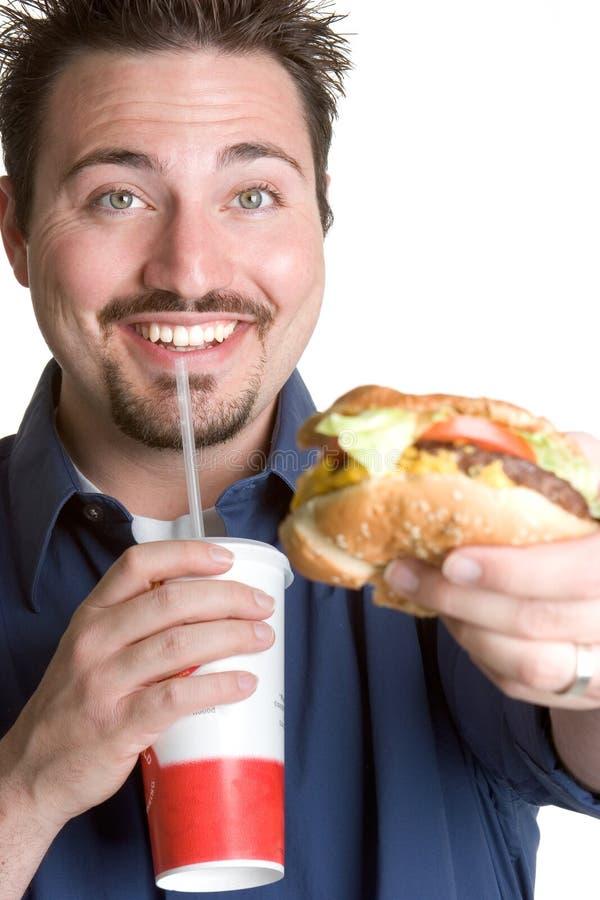 άτομο γρήγορου φαγητού στοκ φωτογραφία