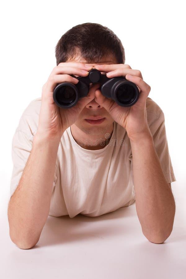 άτομο γυαλιού πεδίων στοκ φωτογραφία με δικαίωμα ελεύθερης χρήσης