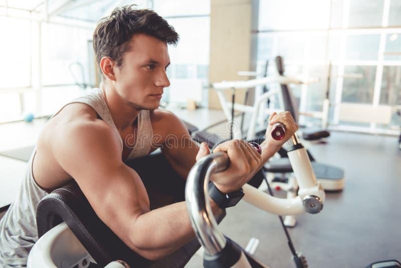 άτομο γυμναστικής στοκ εικόνα