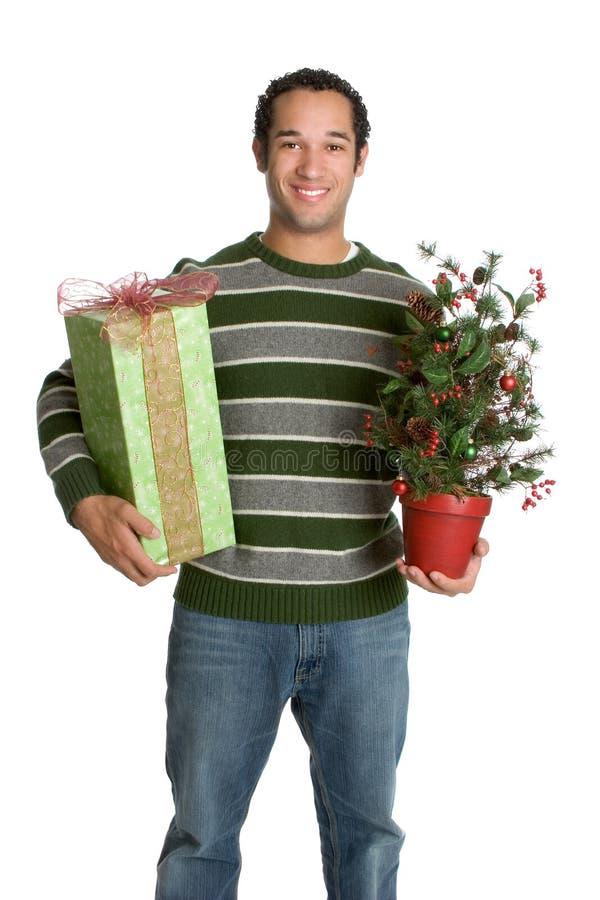 άτομο δώρων Χριστουγέννων στοκ εικόνα