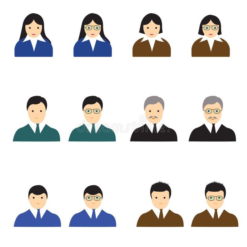 Άτομο εικονιδίων ανθρώπων και womem διανυσματική απεικόνιση ελεύθερη απεικόνιση δικαιώματος
