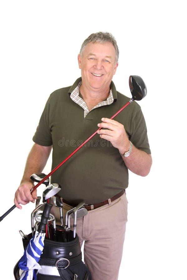 άτομο εκμετάλλευσης γκολφ λεσχών στοκ εικόνα