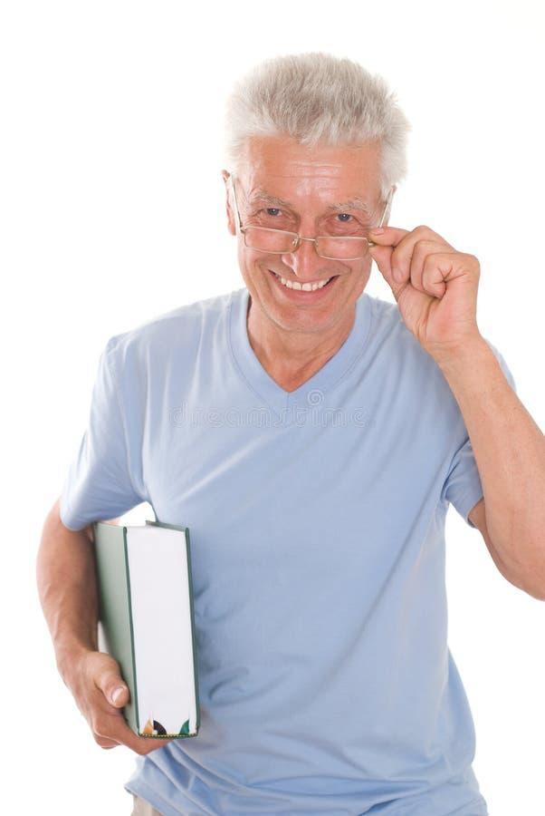 Άτομο και βιβλίο στοκ εικόνες