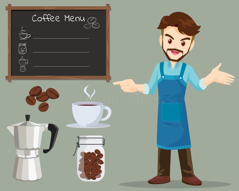 Άτομο καφέ διανυσματική απεικόνιση