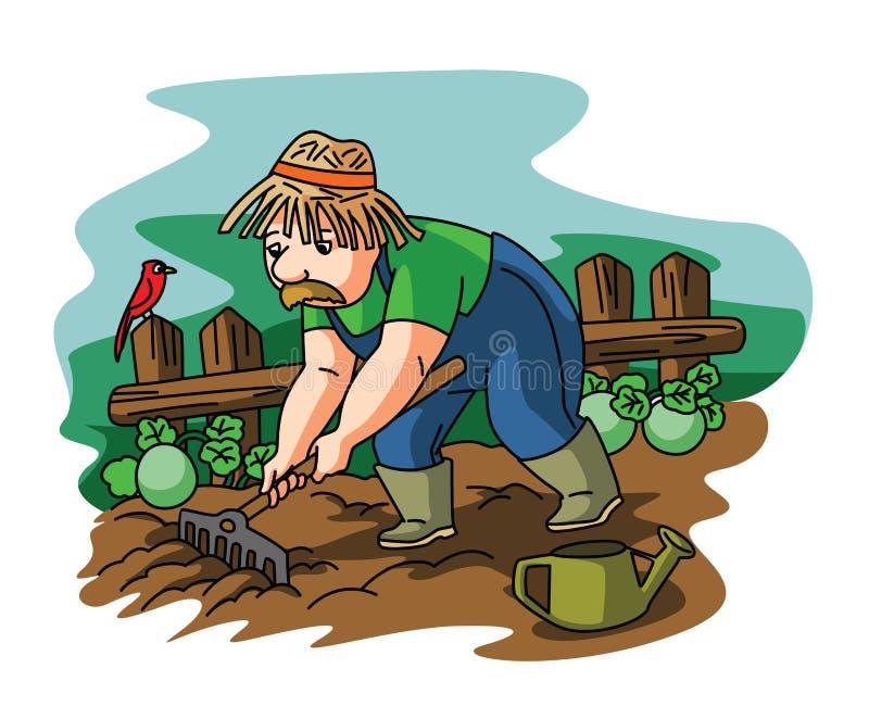 Άτομο κηπουρών διανυσματική απεικόνιση