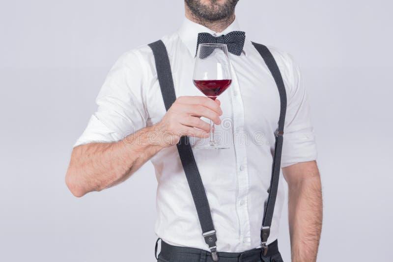 Άτομο κρασιού στοκ εικόνα με δικαίωμα ελεύθερης χρήσης