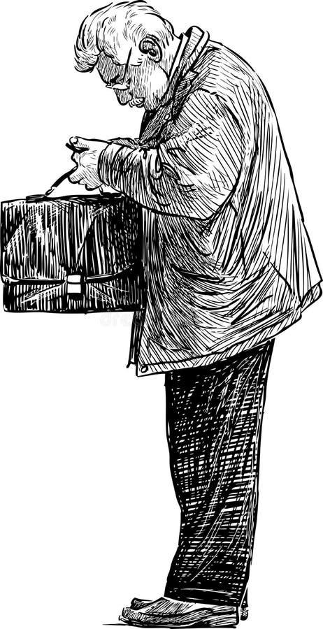 Άτομο με έναν χαρτοφύλακα ελεύθερη απεικόνιση δικαιώματος