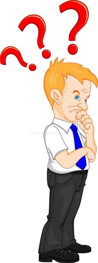 Άτομο με ένα ερωτηματικό απεικόνιση αποθεμάτων