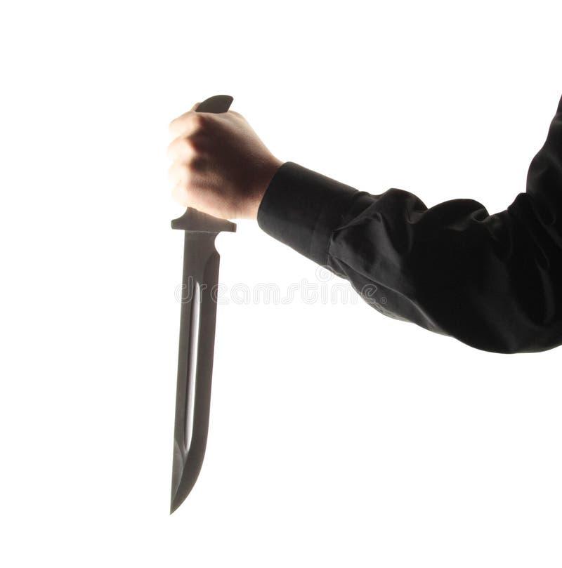Άτομο με ένα μαχαίρι στοκ εικόνα με δικαίωμα ελεύθερης χρήσης