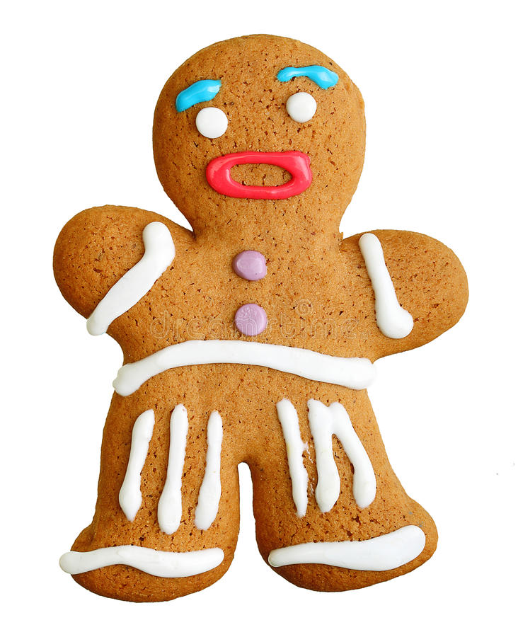 Άτομο μελοψωμάτων, μπισκότο Χριστουγέννων στοκ φωτογραφίες με δικαίωμα ελεύθερης χρήσης