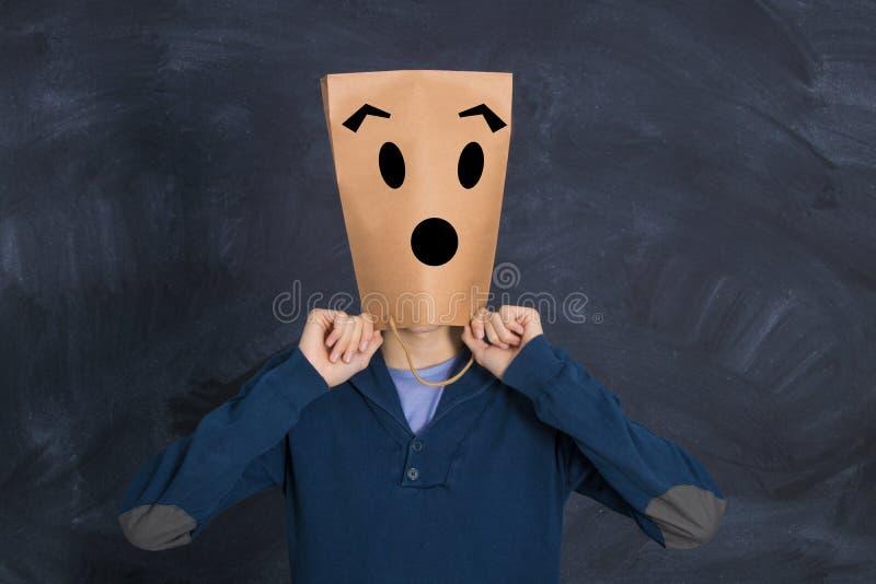 Άτομο με την τσάντα εγγράφου στοκ φωτογραφία