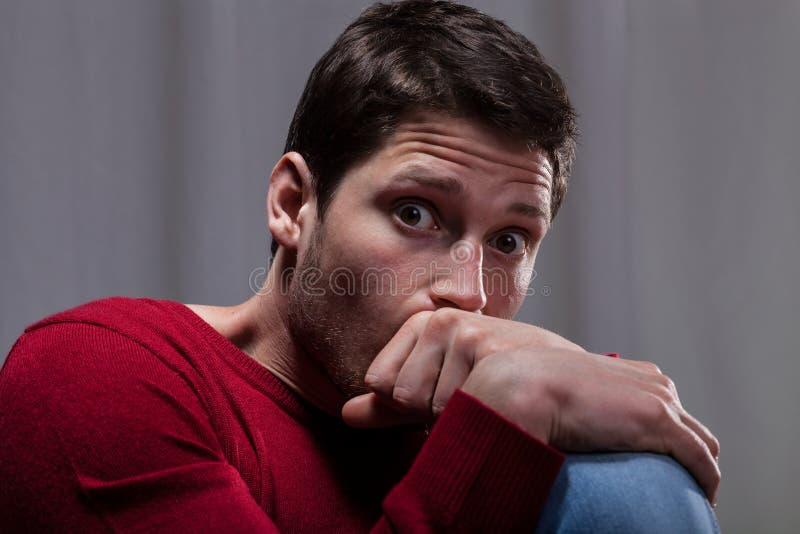 Άτομο με τη διανοητική ασθένεια στοκ εικόνες