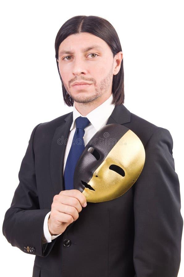 Άτομο με τη μάσκα στοκ εικόνες
