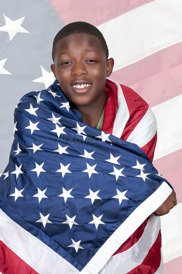 Άτομο με τη σημαία στοκ φωτογραφία