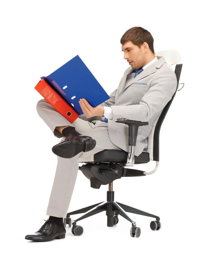 Άτομο με τις γραμματοθήκες στοκ εικόνες με δικαίωμα ελεύθερης χρήσης