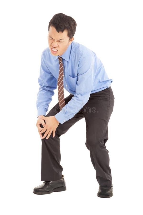 Άτομο με τον πόνο γονάτων στοκ φωτογραφίες με δικαίωμα ελεύθερης χρήσης