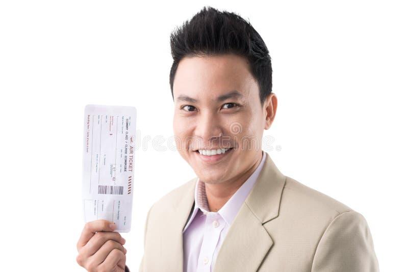 Άτομο με το εισιτήριο στοκ εικόνα με δικαίωμα ελεύθερης χρήσης