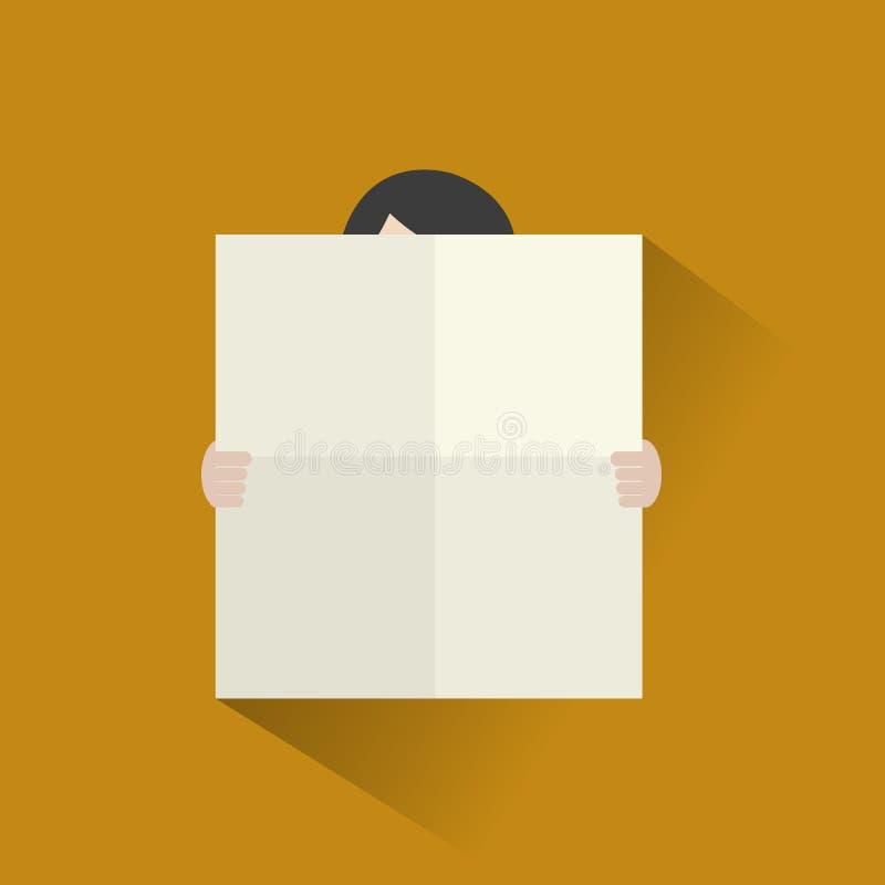Άτομο με το κενό επίπεδο εικονίδιο αφισών απεικόνιση αποθεμάτων