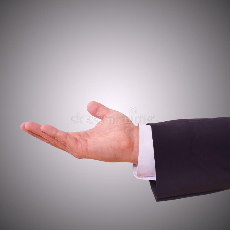 Άτομο με το κενό χέρι στοκ εικόνες