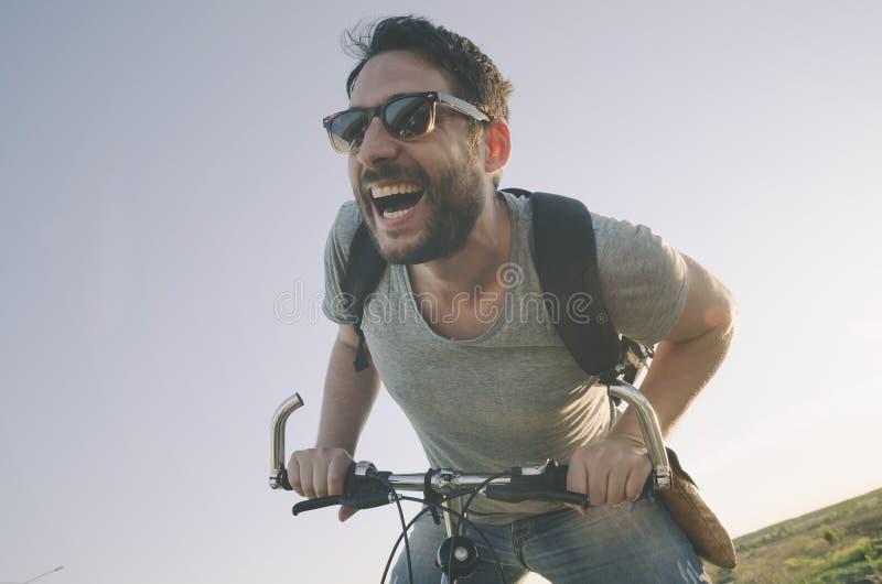 Άτομο με το ποδήλατο στοκ φωτογραφίες