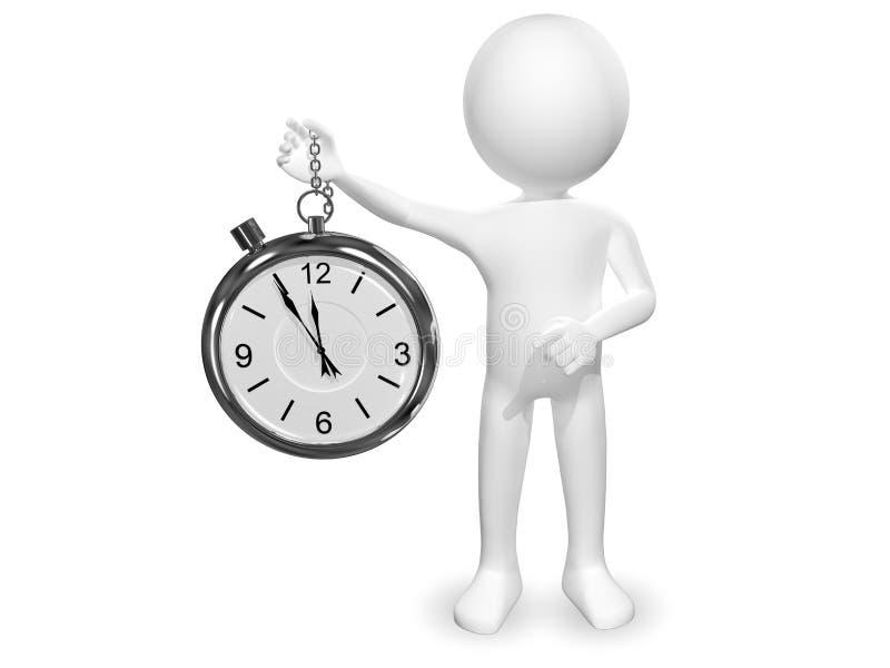 Άτομο με το ρολόι διανυσματική απεικόνιση