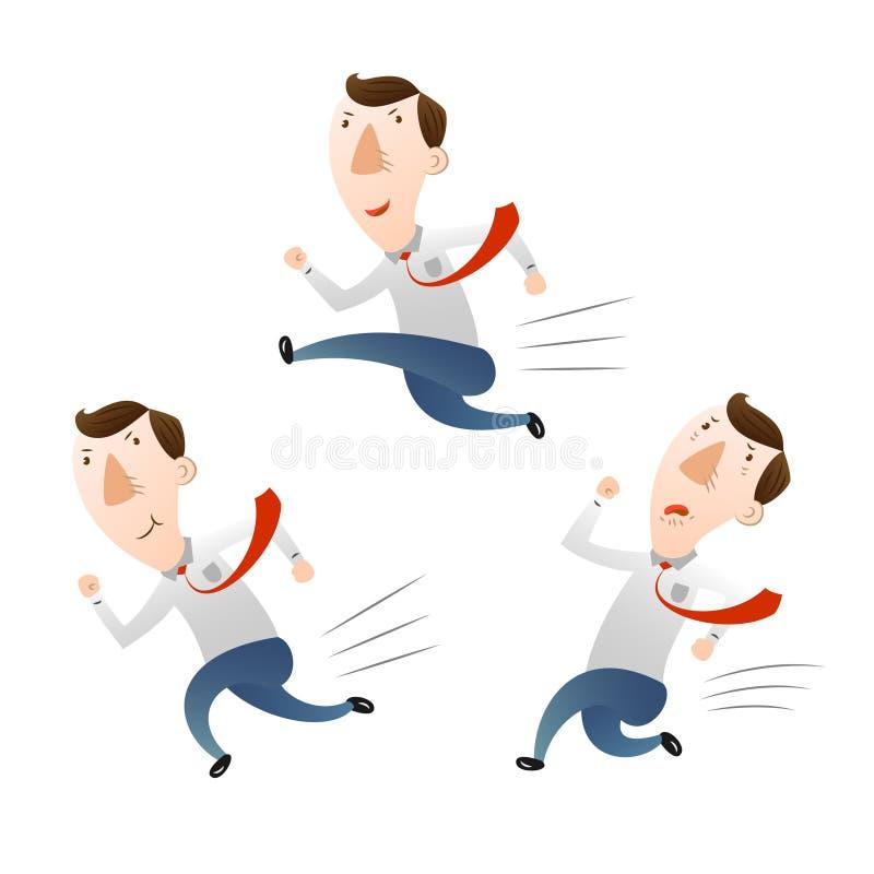 Άτομο με το τρέξιμο και το άλμα απεικόνιση αποθεμάτων