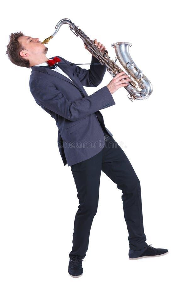 Άτομο με το saxophone στοκ εικόνες με δικαίωμα ελεύθερης χρήσης