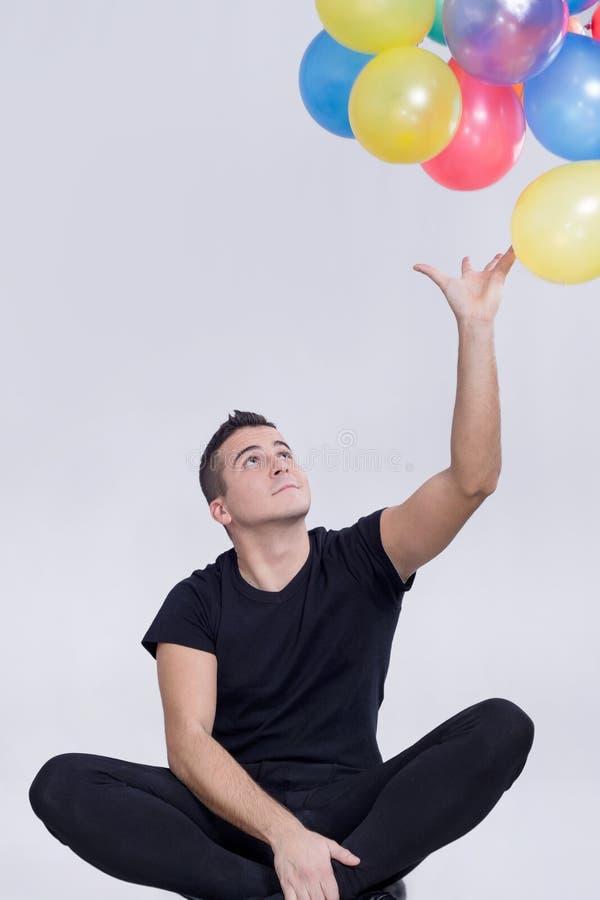Άτομο μπαλονιών στοκ εικόνα