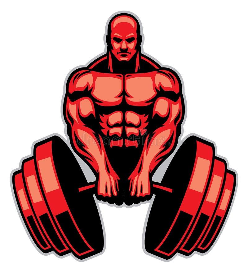 Άτομο μυών bodybuilder απεικόνιση αποθεμάτων