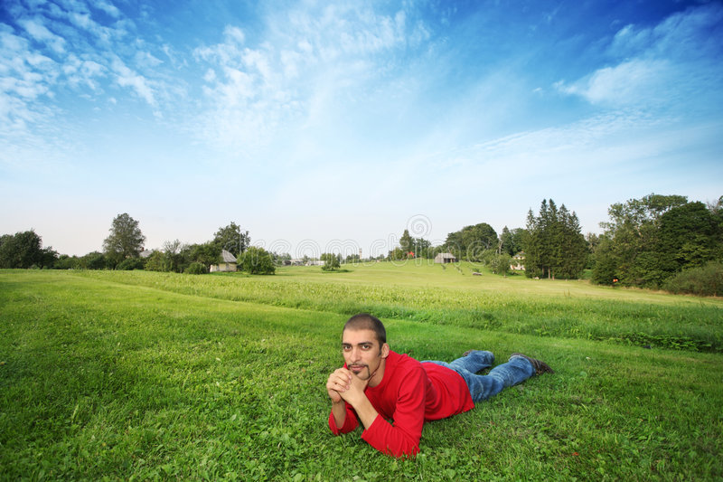 άτομο πεδίων στοκ φωτογραφία