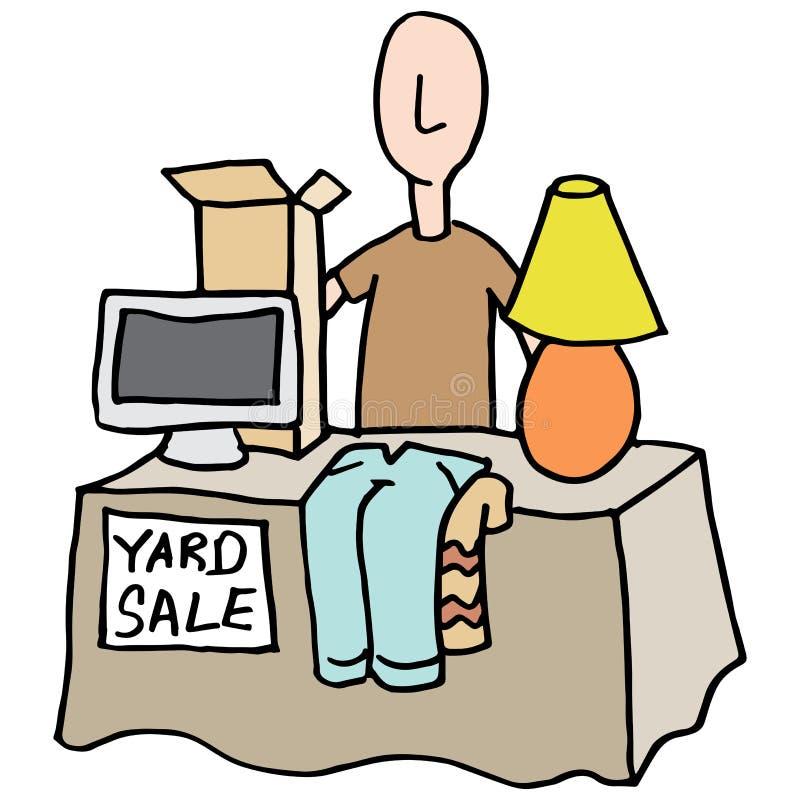 Άτομο που έχει μια πώληση ναυπηγείων απεικόνιση αποθεμάτων