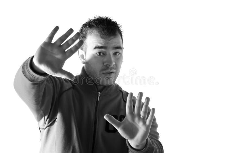 άτομο που αρνείται κάτι στοκ φωτογραφία με δικαίωμα ελεύθερης χρήσης