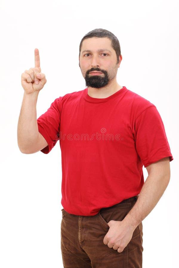 άτομο που δείχνει το πορτρέτο επάνω στοκ φωτογραφία με δικαίωμα ελεύθερης χρήσης