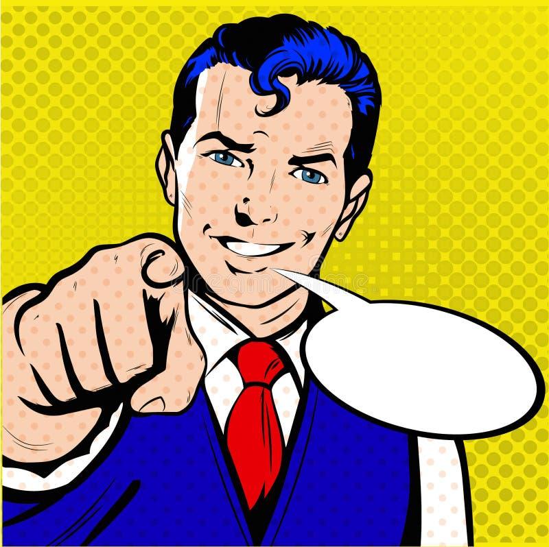 Άτομο που δείχνει λαϊκή τέχνη ύφους δάχτυλων την αναδρομική στοκ φωτογραφία με δικαίωμα ελεύθερης χρήσης