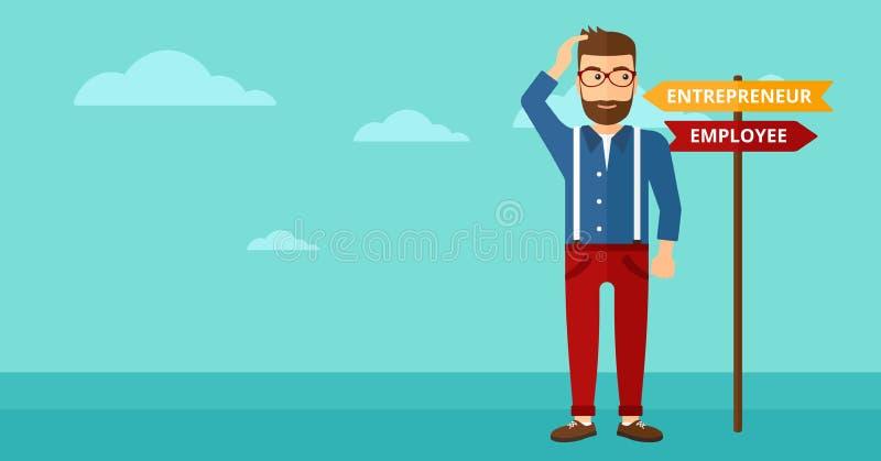 Άτομο που επιλέγει τον τρόπο σταδιοδρομίας απεικόνιση αποθεμάτων