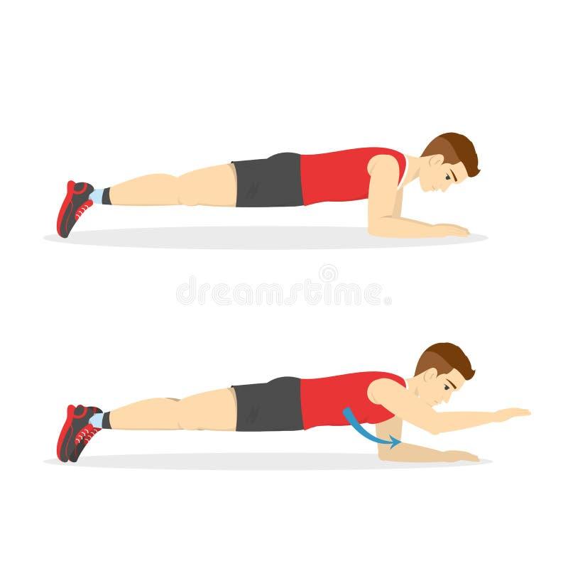 Άτομο που κάνει τη σανίδα στη γυμναστική Έγκαυμα κοιλιών ελεύθερη απεικόνιση δικαιώματος