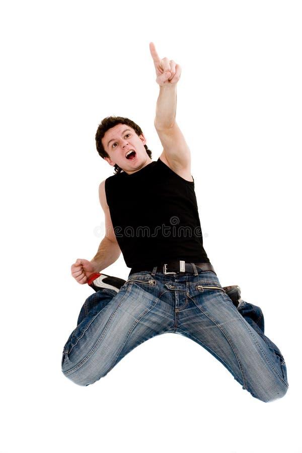 άτομο που κραυγάζει την έκπληκτη κορυφή στοκ φωτογραφίες με δικαίωμα ελεύθερης χρήσης
