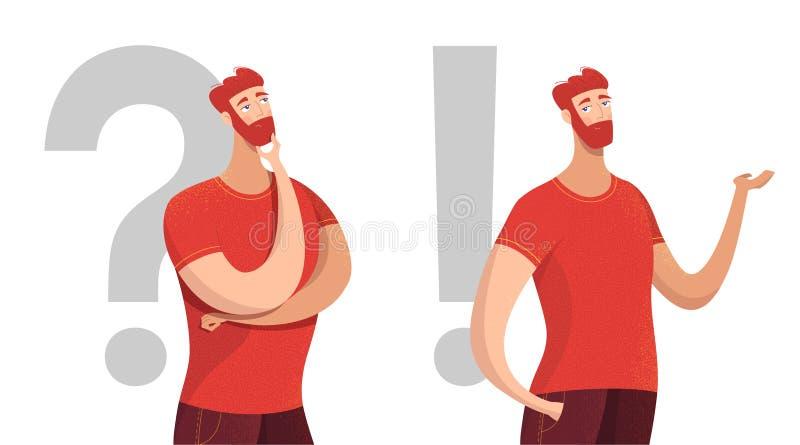 Άτομο που λαμβάνει την απόφαση το επίπεδο διανυσματικό σύνολο χαρακτήρων διανυσματική απεικόνιση