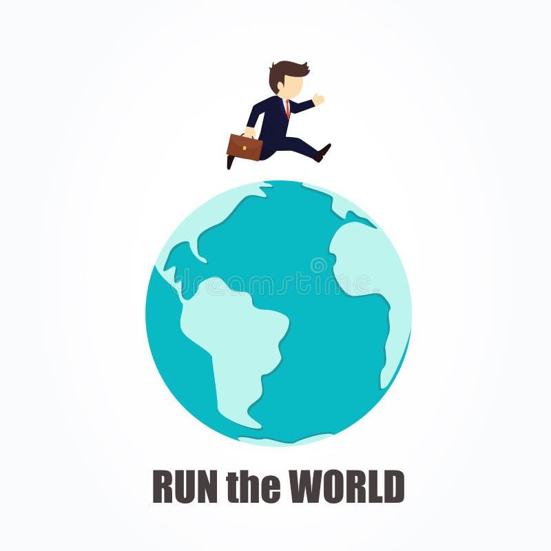 Άτομο που οργανώνεται επιχειρησιακό σε όλο τον κόσμο Διανυσματική επίπεδη απεικόνιση κινούμενων σχεδίων ελεύθερη απεικόνιση δικαιώματος