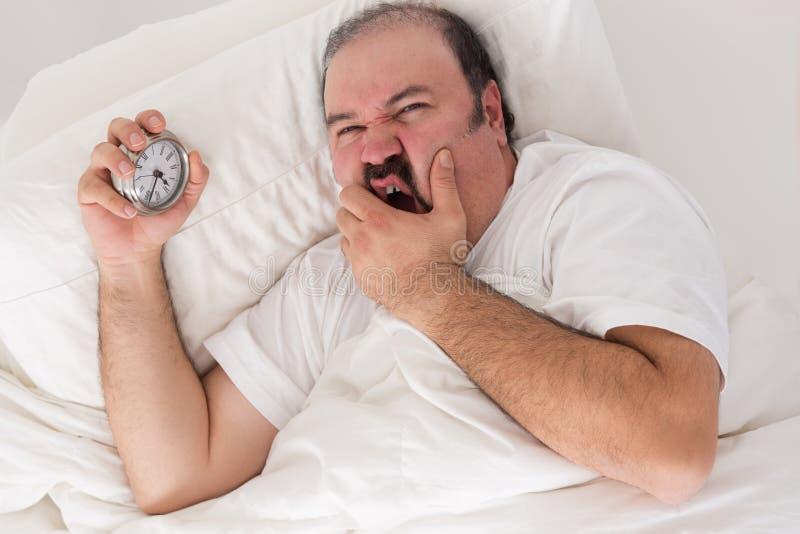 Άτομο που πάσχει από την αϋπνία στοκ εικόνες