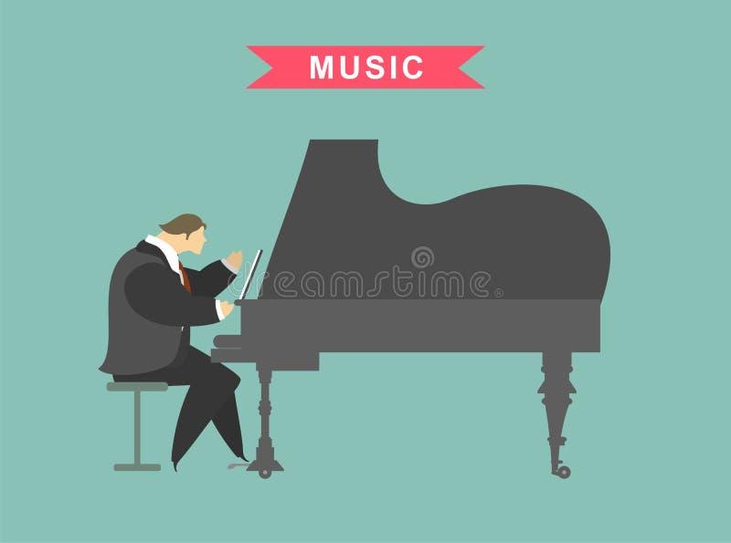 Άτομο που παίζει το πιάνο ελεύθερη απεικόνιση δικαιώματος