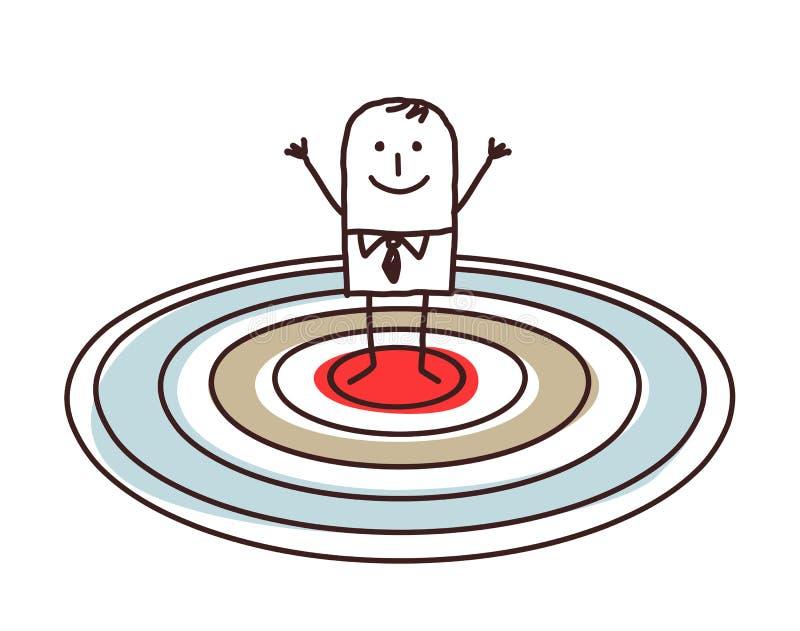 Άτομο που στέκεται σε έναν μεγάλο στόχο απεικόνιση αποθεμάτων