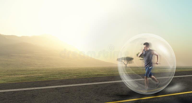 Άτομο που τρέχει στη φύση στοκ φωτογραφία με δικαίωμα ελεύθερης χρήσης