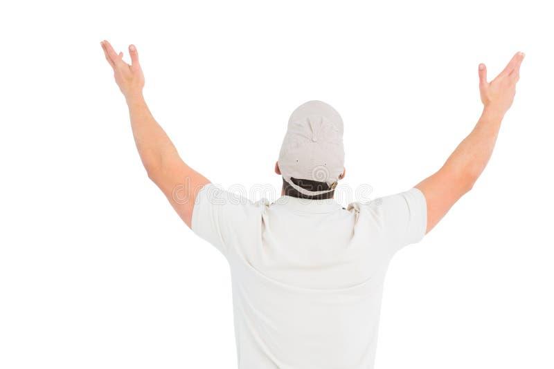Άτομο που φορά την ΚΑΠ στοκ εικόνες με δικαίωμα ελεύθερης χρήσης