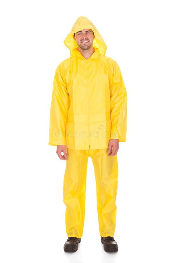 Άτομο που φορά το αδιάβροχο στοκ φωτογραφίες με δικαίωμα ελεύθερης χρήσης