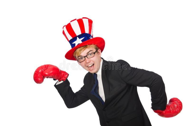 Download Άτομο που φορά το καπέλο με τα αμερικανικά σύμβολα Στοκ Εικόνες - εικόνα από απογοήτευση, εξαγριωμένος: 62704072
